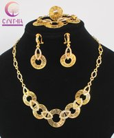 Wholesale Vintage Wedding Costume Jewelry - African Jewelry Sets Hot Sale Dubai vintage luxury crystal wedding bridal african beads costume gold plated Statement jewelry sets