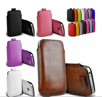 Wholesale S4 Sleeve - Fashion Universal Mobile Phone Bags PU Leather Wallet Case Pouch Pull Tab Pouch Sleeve For Iphone 5 5s 6 6s 6splus Samsung S4 S5 S6