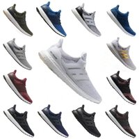 Wholesale dress fabric silk - 2017 Ultra boost 3.0 Real Boost Primeknit Oreo White Blue Black Casual running Shoes Mens Women Ultraboost bong sneakers size 36-45