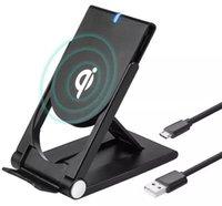 ingrosso basamento pieghevole iphone-Universale Qi Wireless Caricatore pieghevole regolabile Supporto Dock per Samsung S7 S8 Edge Plus Nota 8 Iphone 8 X Nexus 5 6 nuovo caldo