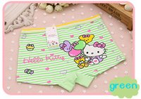 Wholesale Girls Boxers Shorts - Free - freight girl cartoon cute cat girl child boxer shorts soft cotton panties