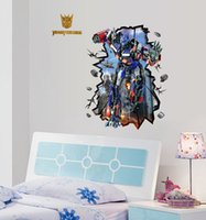 Sticker Cartoon Transformers Wall Stickers impermeabili Wallpaper Ragazzi Room Decor murali Stickers Poster Decor Art bambini Camera dei bambini