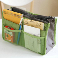Wholesale Handbag Organiser Purse - Wholesale-Lady Women Insert Handbag Organiser Purse Large liner Organizer Bag Tidy Travel
