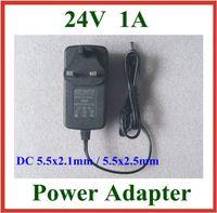adaptateur secteur 24v 1a achat en gros de-50 pcs AC 100-240 V à DC 24 V 1A Chargeur UE US UK Plug DC 5.5x2.1mm / 5.5x2.5mm 5.5 * 2.1mm / 5.5 * 2.5mm Alimentation Adaptateur