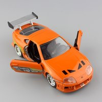 Wholesale Toyota Toys Car - wholesale new 1:32 Scale Brian's 1995 TOYOTA SUPRA FAST AND FURIOUS metal diecast race model mini collection street race cars toys for kids