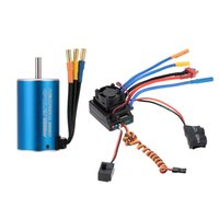 Wholesale Esc For Brushless Motor Car - 3660 2600KV 4P Sensorless Brushless Motor+80A Splash-Proof Brushless ESC with 5.3V 5A Switch Mode BEC for 1 8 1 10 RC Car order<$18no track