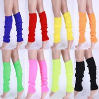Wholesale trendy knee high boots - Wholesale-2016 Trendy Women Solid Color Knit Winter Leg Warmers Knee High Legging Boot