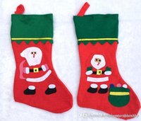 Wholesale Sock Snowman Pattern - Christmas Stocking christmas socks supplies Red Santa Socks Snowman Christmas Tee Patter Kid Gift Stockings various patterns bag 2016