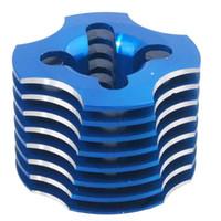 Wholesale nitro rc cars online - RC CXP R003 Blue Aluminum Cylinder Head For HSP Nitro VX Engine