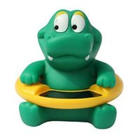 Cute Cartoon Crocodile infantile del Vasca da bagno termometro tester di temperatura dell'acqua Toy