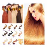 """Wholesale Extensions Nail Tip Free Shipping - Free Shipping 18""""-28"""" Remy Brazilian Keratin U tip Nail Tip Hair Blonde Hair Shape Hair Extension"""