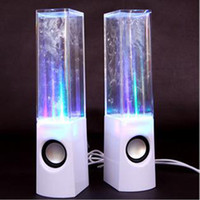 Wholesale water iphone speakers - Dancing Water Speaker Active Portable Mini USB LED Light 3D Sound Speaker For iPhone iPad MP3 4 PSP DHL Free MIS105