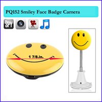 Wholesale Camera Face Detection - Cute Smiley Face Button Mini spy Camera DV Car DVR Motion Detection Video hidden Camera TV out DV Camcorder video recorder Cam PQ152