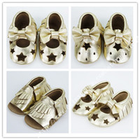 Wholesale Mary Toddler Shoes White - Wholesale-2015 new laser cut Fretwork Genuine Leather baby girls shoes First Walkers Toddler baby moccasins bow mary jane Shoes