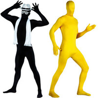 Wholesale Sexy Leotard Men - Wholesale-Halloween Costumes Sexy Stage Props Tied Bundles Full-coated Leotard Body Leotard High Elastic Lycra Tights Beam Deposition XL