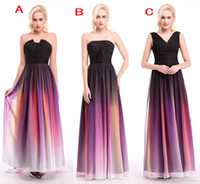 Reference Images A-Line Strapless Elie Saab Ombre Strapless Prom Dresses New 3 Styles Pleats Evening Gowns Chiffon Formal Dress For Cheap 2017 Bridesmaid Occasion Dress