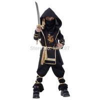 ingrosso reaper cosplay-Shanghai Story Fantasia Marziale Ninja Grim Reaper Halloween Costume Cosplay Bambini Guerriero Costumi Stage Suit Boy Kids Swordsma Costume