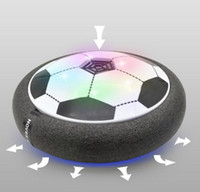 Wholesale Wholesale Indoor Soccer Game - Air Power Soccer Amazing Hover Ball Floating Football With Foam Bumpers LED Lighting And Music Safe Flying Toys For Indoor Disk Game