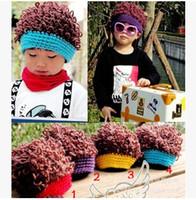 Wholesale Hand Muffs - Kid Skull Infant Hats Kids Cap Fashion Hand Knitted Caps Boys Girls Baby Crochet Hats Children Knitted Beanie Hat hot