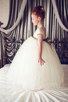 Wholesale Dress Girl Discount - Big Discount Cute Cap Sleeve Flower Girls Dresses 2015 Custom Made Square New Kids Party Wear