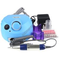 Wholesale Nail Buffer Drill Set - Wholesale-4 Colors 30000 RPM Pro Acrylic Electric Nail Drill File Buffer Bits Manicure Pedicure Kit Set 220V Dropshipping #6 SV004695