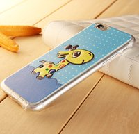 Pour iphone 6s iphone 6plus iphone5s silicone Case tpu 3D Relief de dessin animé téléphone Case Retour couverture girafe papillon Little Bear cas de iPhone6
