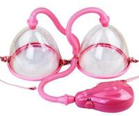 Wholesale Electric Breast Pump Enlarger - 2015 Electric Breast Enlarger Breast Enhancer Suction Pump Dual Cup Machine Enlargement + RF Facial+