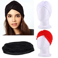 Wholesale Hair Wrap Bandana - Wholesale Headband Full Head Cover Turban Head Wrap Hair Loss Yoga Hat Bandana Scarf