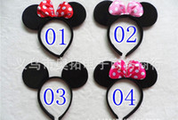 Wholesale Birthday Girl Decoration - New hot sale 2016 Children Mickey and Minnie mouse ears headband girl boy Hair Sticks kids birthday party supplies decorations