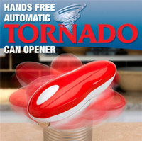 Wholesale One Touch Hands Free Opener - Brand New Tornado Can Opener Hands Free Multi-function Automatic Electric Openers One Touch With Logo Packing