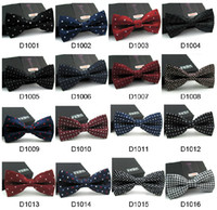 Wholesale Pink Bow Tie Wholesale - Different Colors Bridegroom Polka Dots Unisex Neck Bowtie Bow Tie Adjustable Bow Tie high quality metal adjustment buckles
