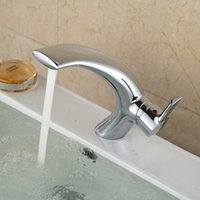 Wholesale Two Tap Vessel Sink - New Type Design Basin Vessel Sink Taps Brass Single Handle with Two Pipes Polished Finish