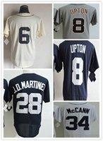 Wholesale Al Kaline Baseball - 34 James McCann 8 Justin Upton 28 JD Martinez 6 Al Kaline Mens Baseball Jerseys Cheap wholesale