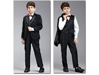 Wholesale Costumes For Students - Children's Clothing Boys Attire Kids Suit The Boy Stage Costumes Student Chorus Suits Personality Clothing For Weddin(jacket+pants+vest)
