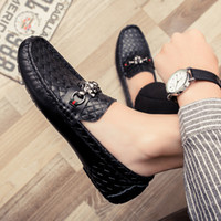 Wholesale Pump Wear - Brand Handmade Men Genuine leather driving Shoes Lace-Up Wear Comfortable Men Dress Wedding Shoes Prom Men's Loafers