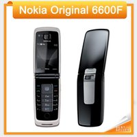 Wholesale fold mobile phones - 6600F Original Nokia 6600 Fold Mobile Phone Purple, Blue, Black color in Stock