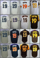 Wholesale camo baseball for sale - 2018 Flexbase Tony Gwynn Home Away Jersey Blue White Grey Cream Brown Camo Pullover Cool Base Stitched