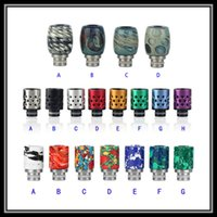 Wholesale Wholesale Beautiful Nice - New Arrival 510 Handmade Glass Drip Tips Airflow Adjustable Turquoise Beautiful Tophus Red Stone Styled Nice Drip Tips with Airholes