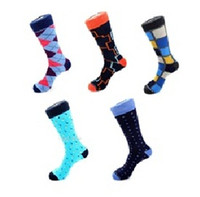 Wholesale 14 styles mix brand Mens business dress socks Classic fashion mens purple socks diamond Mature pair combed cotton sock wear resistant toe