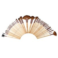 Wholesale Makeup Cosmetics Kit Set - Abody Top Quality 40pcs Makeup Brushes Kit Professional Cosmetic Brush Set Wood Handle Superfine Fibre Brush with Pouch Bag Case