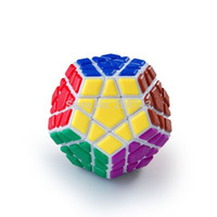 Wholesale Qj Megaminx - Wholesale-QJ Megaminx Tiled White Magic Cube Free Shipping Worldwide