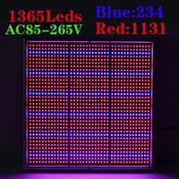 высокомощные растут огни оптовых-Новый 120 Вт 1131Red:234Blue высокая мощность светодиодных светать для цветущих гидропоники системы парниковых завод расти светодиодные панели свет ac85-265В