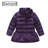 Wholesale Snowsuits Child - Children Jackets Girls Outerwear Coats Brand Down Trench Coat Winter Suits Girls Windbreaker Child Snowsuits Kids Clothes