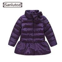 Wholesale Snowsuits Child - Children Jackets Girls Outerwear Coats Brand Down Trench Coat Winter Suits Girls Windbreaker Child Snowsuits Kids Clothes