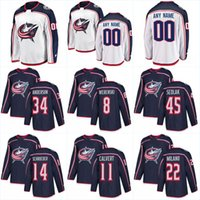 Wholesale 78 Jackets - 2018 New Columbus Blue Jackets Jersey 8 Zach Werenski 71 Nick Foligno 78 Blake Siebenaler 72 Sergei Bobrovsky Hockey Jerseys