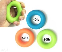Wholesale Strength Grip Rubber Ring - 3 pcs set Sport Muscle Power Training Rubber Ring Strength Hand Grip Exerciser Fit 30lb 40lb 50 lb dynamometer