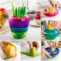 Wholesale Apple Cutting Machine - Kitchen flower pots creative gadgets 10 sets, cut apples device juicer fruit cooking machine