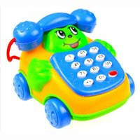 Commercio all'ingrosso-Russo musica educativa Cartoon Sorriso Phone Car Developmental Kids Toy Gift Facile e conveniente da usare Q30 AUG17