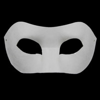 Wholesale Paper Matches - Drawing Board Solid White DIY Zorro Paper Mask Blank Match mask for Schools Graduation Celebration Novelty Halloween Party masquerade mask