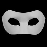 beyaz kağıt maskeli maske toptan satış-Çizim Kurulu Katı Beyaz DIY Zorro Kağıt Maske Boş Maçlar için maske Okullar Mezuniyet Kutlama Yenilik Cadılar Bayramı Partisi masquerade ...